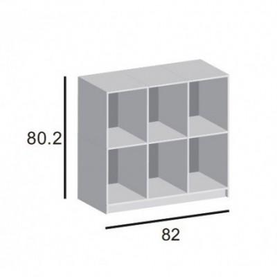 Regał 3x2