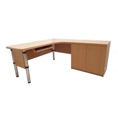Biurko komputerowe z dostawką